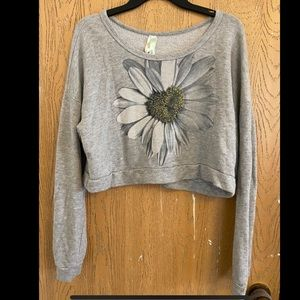 Daisy crop top sweater